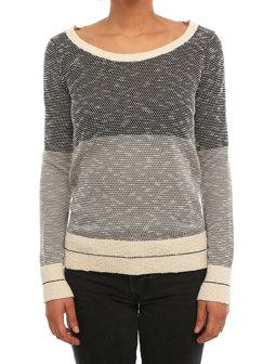 2 Tone Biquet Knit [grey-mel.]