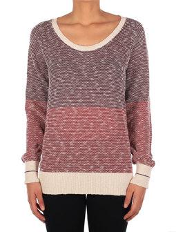2 Tone Biquet Knit [maroon mel.]