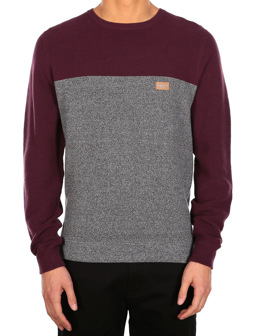 Auf Deck Stripe Knit [red wine]