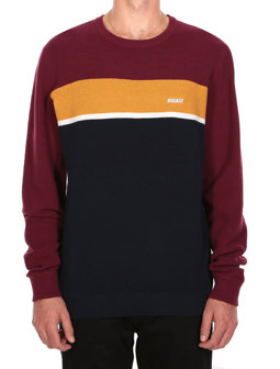 Auf Track Stripe Knit [navy red]
