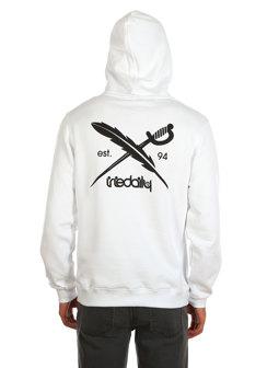 Back Flag Hooded [white]