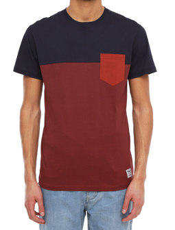 Block Pocket 2 Tee [dark rum]