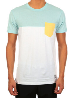 Block Pocket 2 Tee [mint]