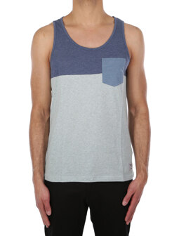 Block Pocket Tank [mintgrey]