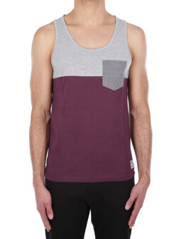 Block Pocket Tank [red wine]