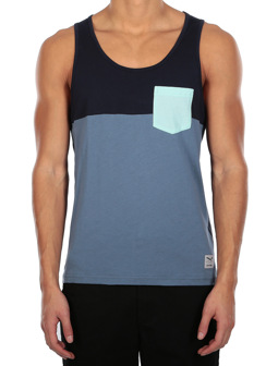 Block Pocket Tank [thunder blue]