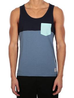 Block Pocket Tank [thunder blue]