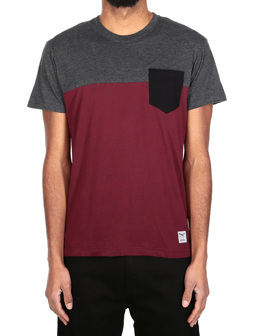 Block Pocket Tee [anthra red]