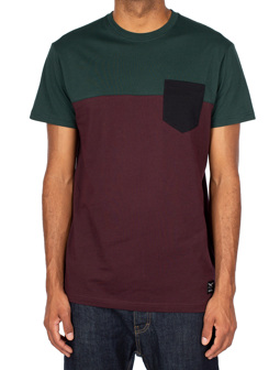 Block Pocket Tee [aubergine]