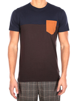 Block Pocket Tee [chocolate]