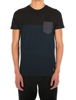 Block Pocket Tee [deep lake]