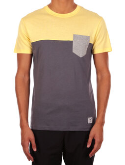 Block Pocket Tee [lemonade]