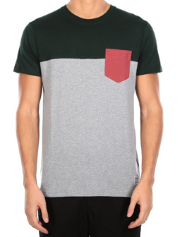 Block Pocket Tee [silver hunter]