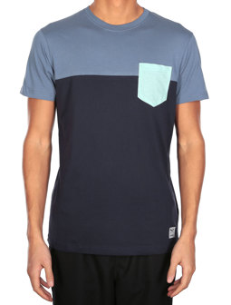 Block Pocket Tee [thunder blue]