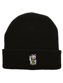 Bye Bye Cat Beanie [black]