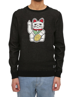 Bye Bye Cat Knit [black]