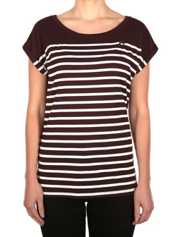 Cat Stripe Tee [aubergine]
