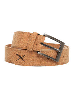 Cork Flag Belt [light brown]