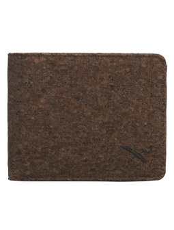 Cork Flag Wallet [d brown]