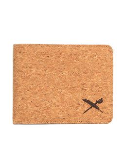 Cork Flag Wallet [light brown]