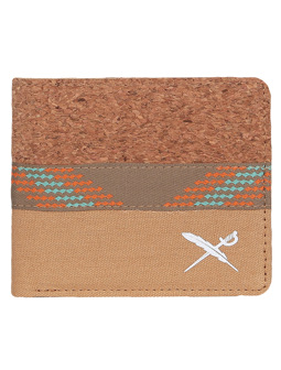 Cork Mix Wallet [light brown]