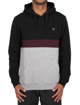 Court Hoody [black red]