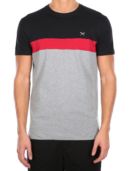 Court Tee [black red]