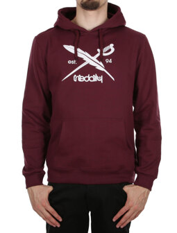 Daily Flag Hooded [maroon mel.]