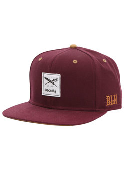 Daily Flag Snapback [red wine]