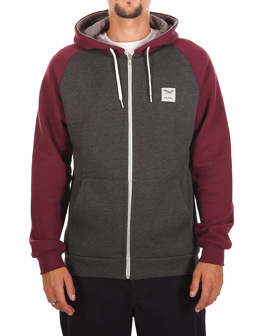 De College Zip Hood [anthra red]