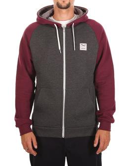 De College Zip Hood [anthra red]