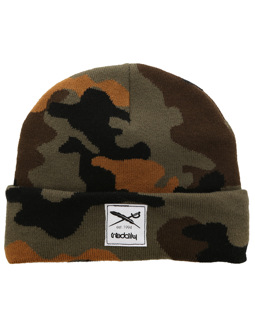 Heavy Pattern Beanie [camou olive]