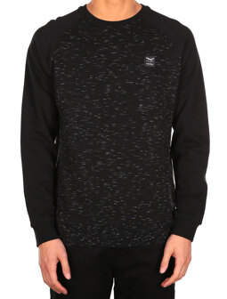Injection Raglan Crew [black mel.]