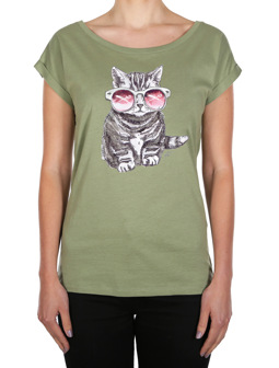 Iriecat Tee [light olive]