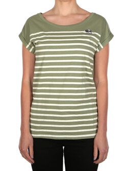Koala Stripe Tee [light olive]