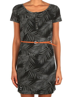 La Palma Dress [black-anthra]