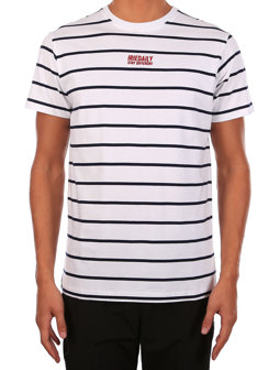Lone Stripe Tee [white]