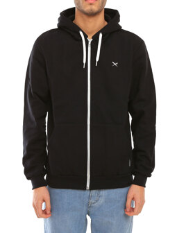 Mini Flag Zip Hood [black]