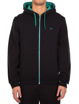 Mini Flag Zip Hood [dark teal]