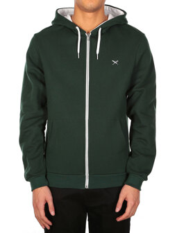 Mini Flag Zip Hood [hunter]
