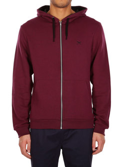 Mini Flag Zip Hood [maroon black]