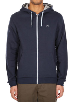 Mini Flag Zip Hood [navy grey]