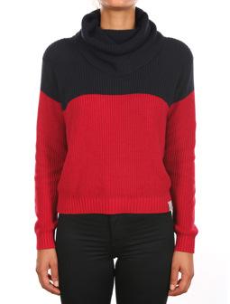 Mock Liv Knit [navy red]