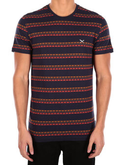 Monte Noe Jaque Tee [navy orange]