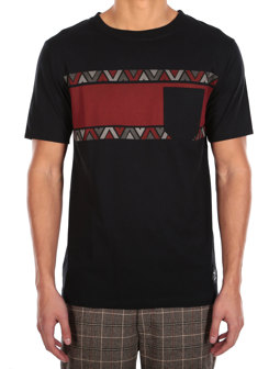 Monte Noe Pocket Tee [black red]