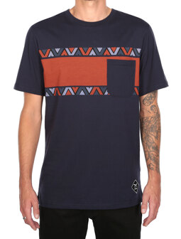 Monte Noe Pocket Tee [navy orange]