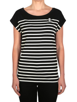 Panda Stripe Tee [black]
