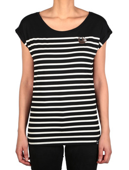 Slothy Stripe Tee [black]