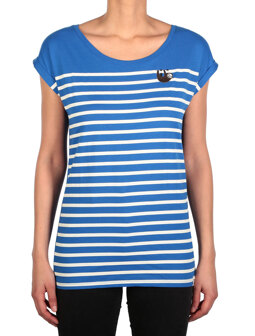 Slothy Stripe Tee [water blue]