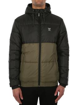 Stagger Hood Jacket [black olive]